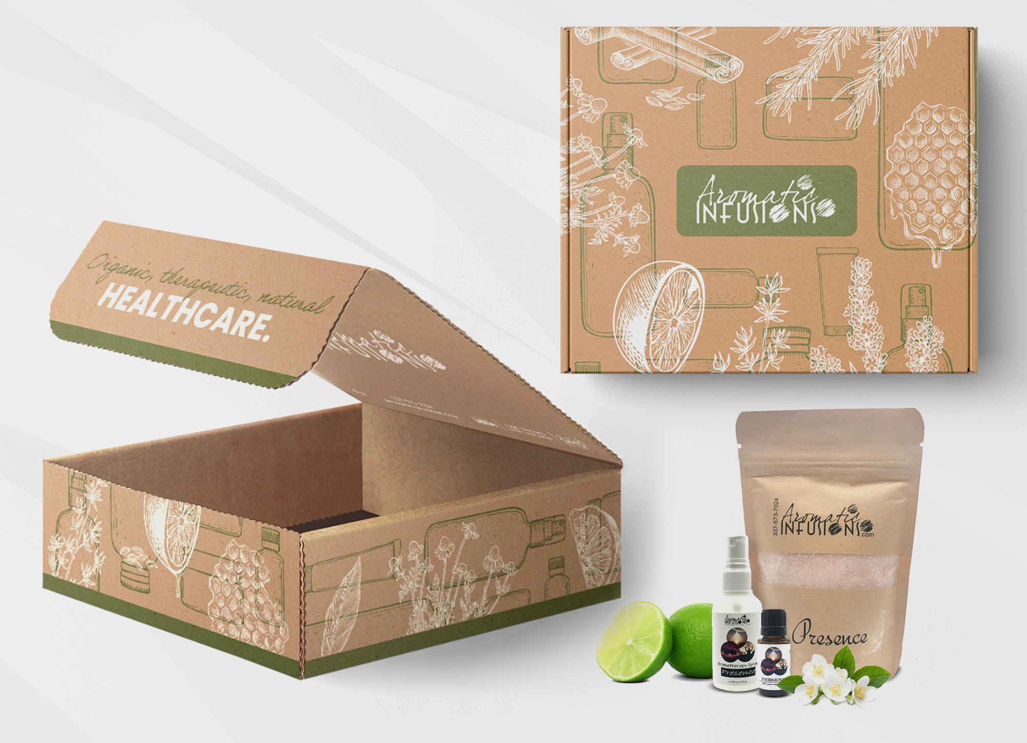 Package Design Aromatic Infusions