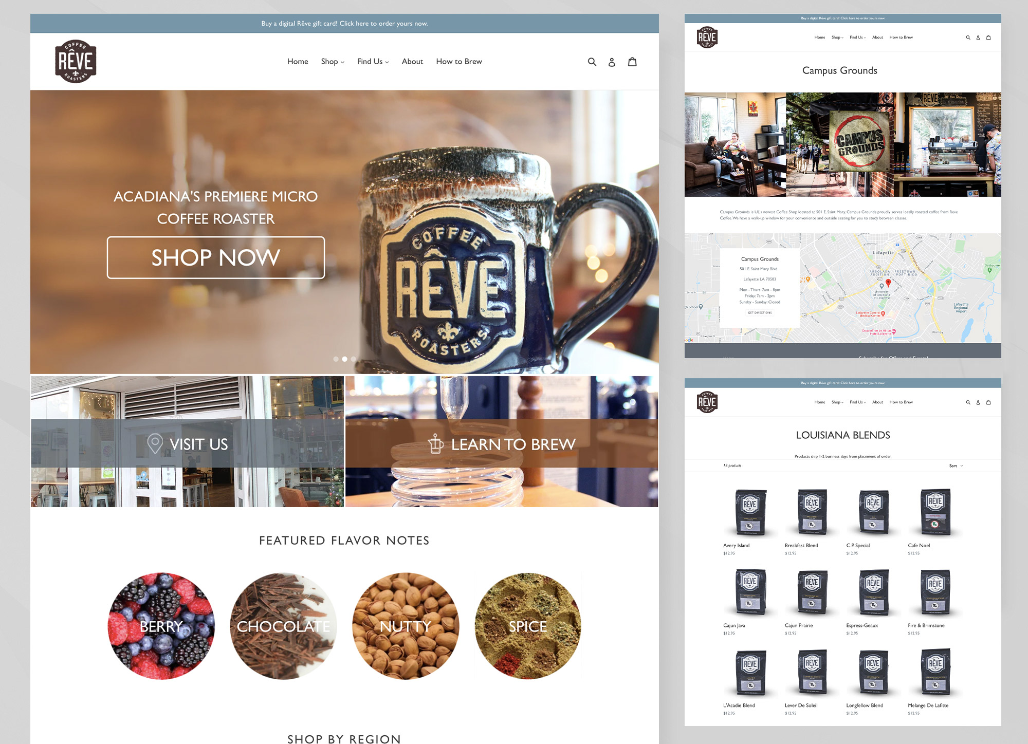Website Design Reve Coffee